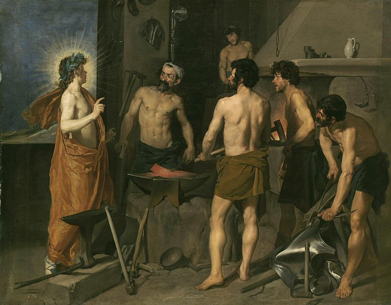 Apollo in the Forge of Vulcan - Diego Velázquez