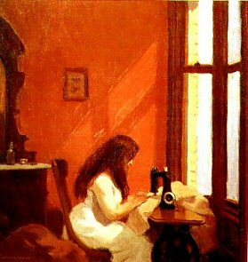 Girl at Sewing Machine - Edward Hopper