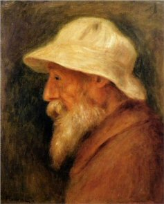 Self-Portrait with a White Hat - Pierre-Auguste Renoir