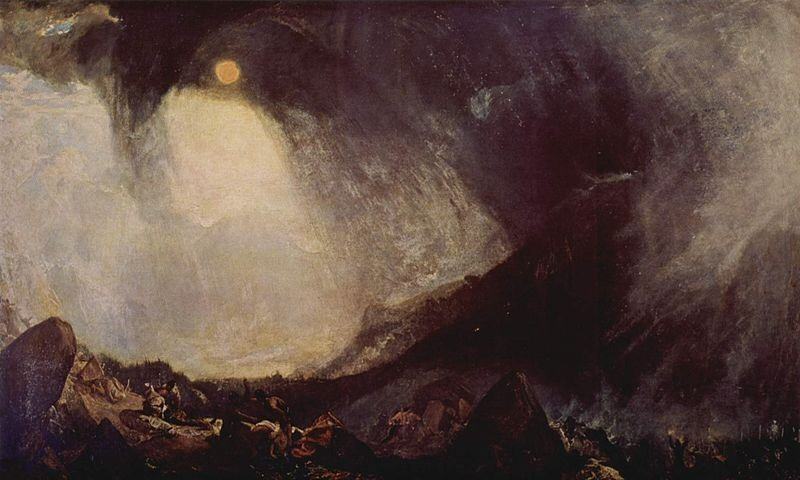 Snow Storm: Hannibal and his Army Crossing the Alps - William Turner