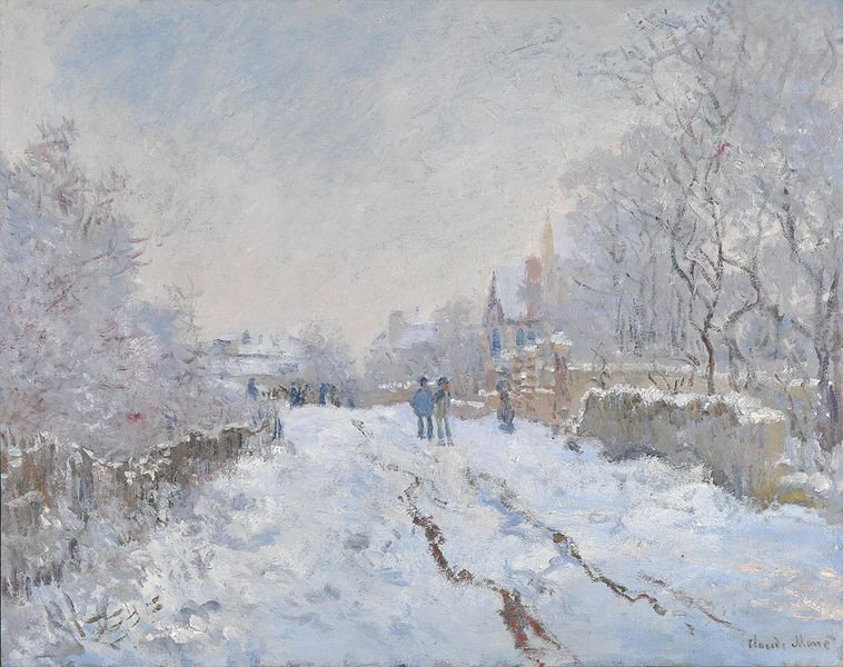 Snow at Argenteuil - Claude Monet