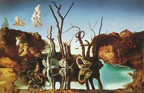 Swans Reflecting Elephants - Salvador Dali