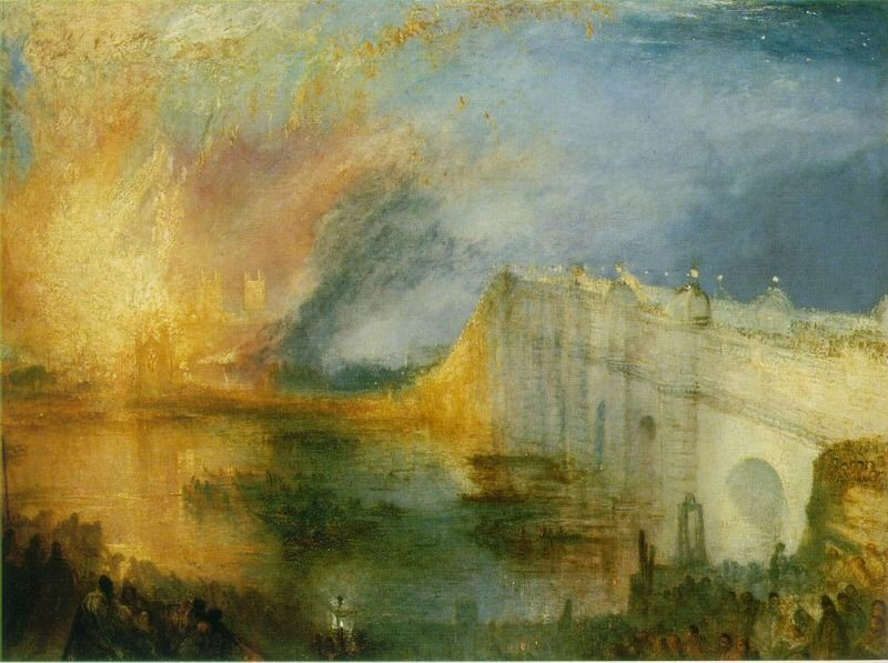 The Burning of the Houses of Lords and Commons - William Turner