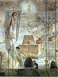The Discovery of America by Christopher Columbus - Salvador Dali